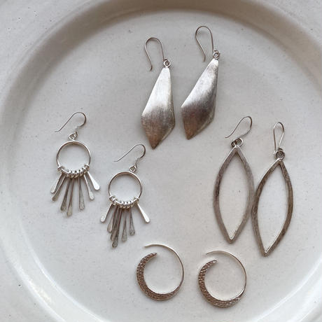 Karen Silver Earrings / Moon