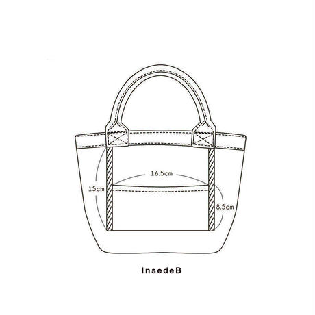 Organic Denim Initial Tote V / Ginger Beach Inn Original