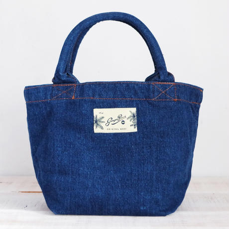 Organic Denim Initial Tote L / Ginger Beach Inn Original