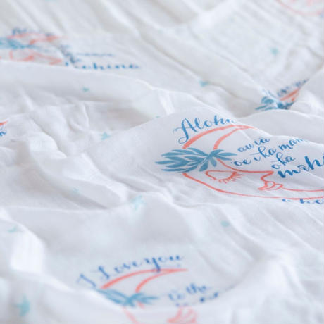 "Bamboo Swaddle "" Love You To The Mahina And Back"" /  Coco Moon"