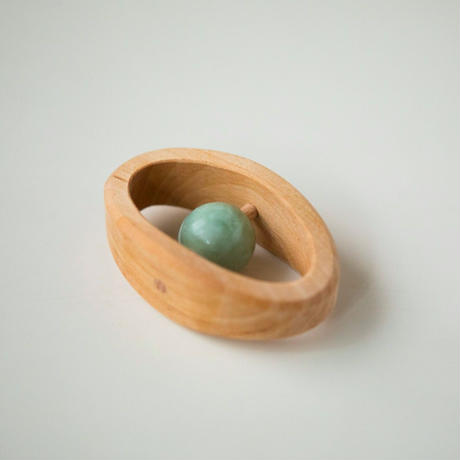 Baby Rattle with Semi Precious Stone
