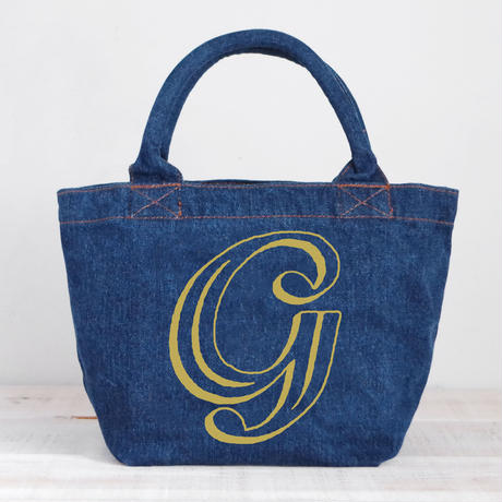 Organic Denim Tote G / Ginger Beach Inn Original