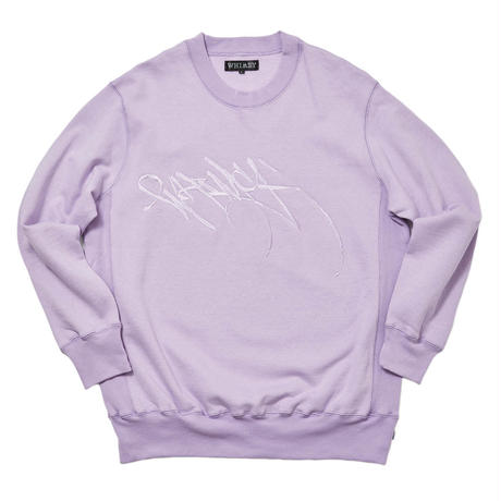 WHIMSY RUNNERZ REJECT LOGO CREWNECK PURPLE