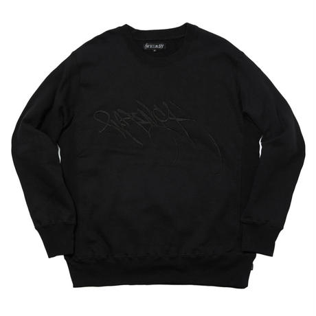 WHIMSY RUNNERZ REJECT LOGO CREWNECK BLACK