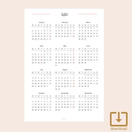 Calendar2021【2021年カレンダー】(A5) ---From GOAL PLANNER---
