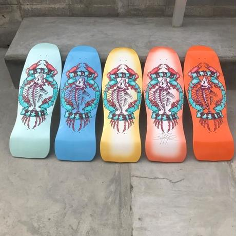 Bulldog Skates Fish Deck turquoise metallic