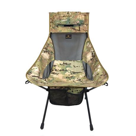 OWLCAMP Multi-terrain camouflage high back chair