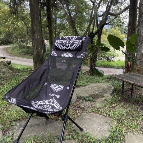 OWLCAMP Black folk custom totem high back chair
