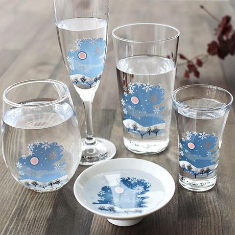 冷感雪結晶 グラス天開 ペアセット 箱入 / 丸モ高木陶器<CE-029>