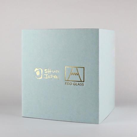 冷感桜舞富士山 ロックグラス 箱入 / 丸モ高木陶器