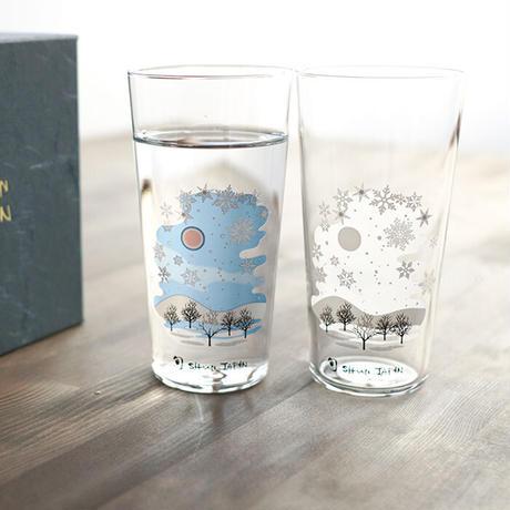 冷感雪結晶 タンブラー ペアセット 箱入 / 丸モ高木陶器<CE-031>