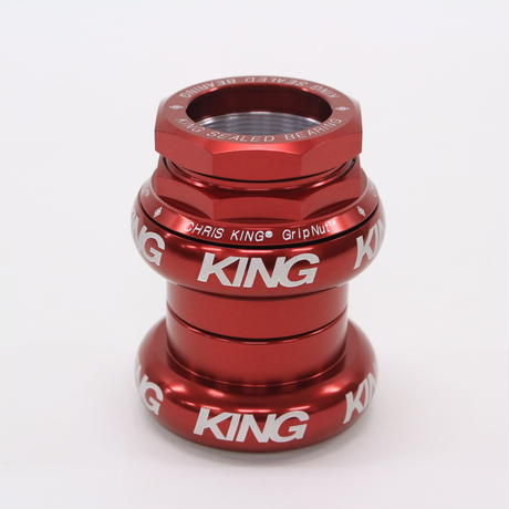 Chris King GripNut 1-1/8 [Red BOLD]