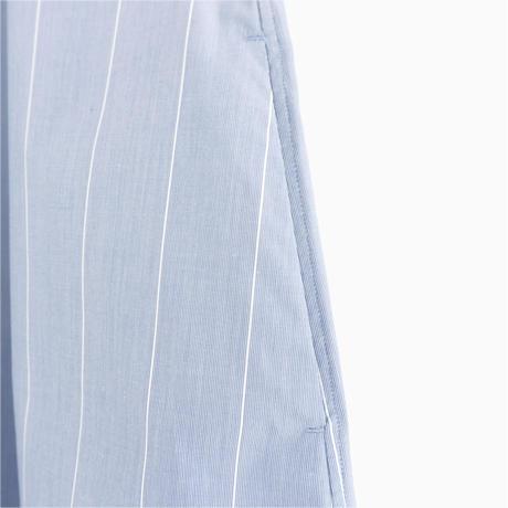 215019 ランダムストライプシャツワンピース