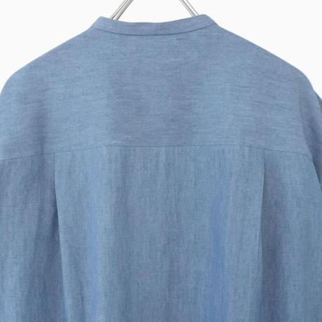 214503 ライトウェイトシャンブレーデニムピンタックシャツ