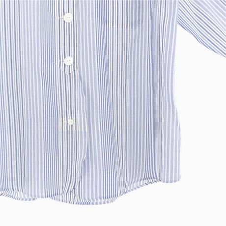 214021 ローンストライプスタンドカラーシャツ