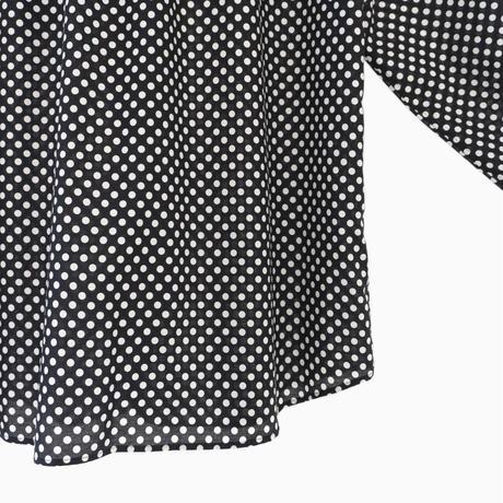 214519 水玉プリントブロードシャツ