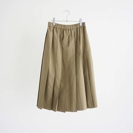 187522 コットンツイルプリーツスカート