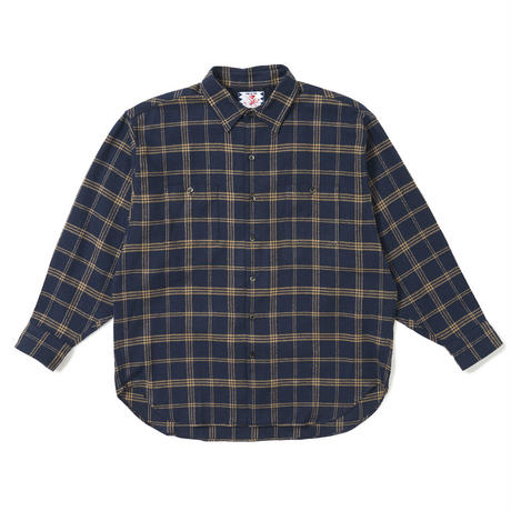 SON OF THE CHEESE / Bias Shirt(NAVY)