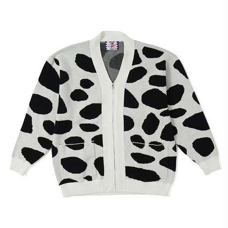 SON OF THE CHEESE / Dalmatian Cardigan (WHITE)