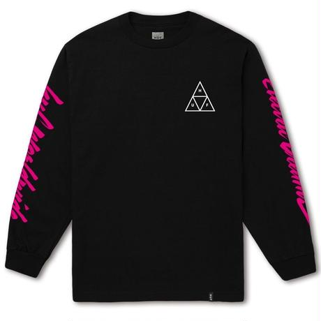 HUF  NIGHT CALL LS TEE (BLACK)