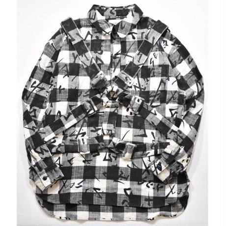 Black Weirdos / Parachute Shirt (WHITE)