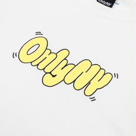 Only NY /  Bubble Letter Champion® L/S T-Shirt (White)