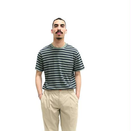 Only NY / Nautical Stripe Pocket T-Shirt (Willow)