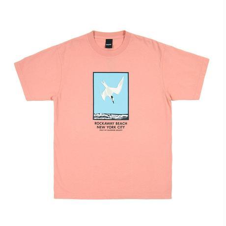 Only NY /  ROCKAWAY BEACH T-SHIRT(Coral)