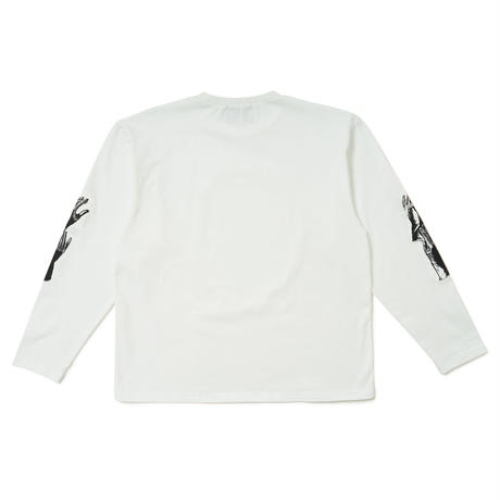 SON OF THE CHEESE / Hands LS TEE (WHITE)