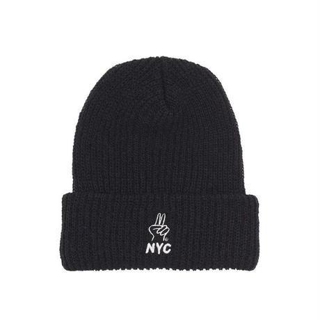 Only NY / Peace NYC Beanie ( Black )