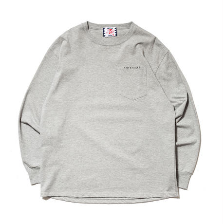 SON OF THE CHEESE / Round LS TEE(GRAY)
