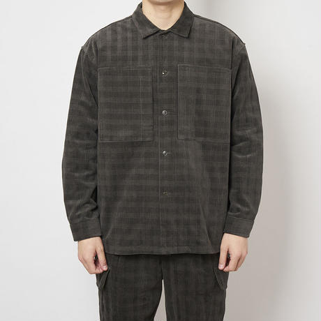SON OF THE CHEESE / Cross Cord Shirt (OLIVE)