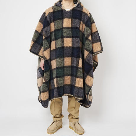 SON OF THE CHEESE / Fleece Poncho(GREEN)