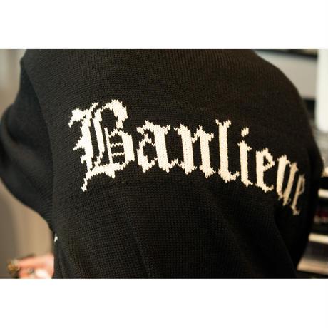 Black Weirdos / Jacquard Letter Sweater  ( Black )