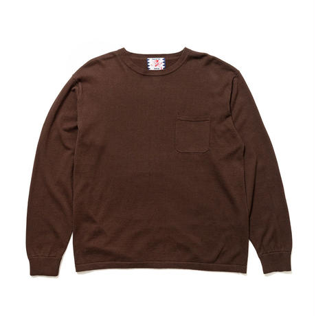 SON OF THE CHEESE / C100 long sleeve(BROWN)