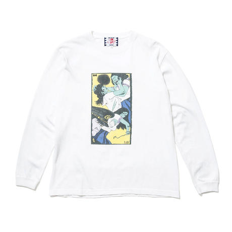 SON OF THE CHEESE / Face long shirt (WHITE)
