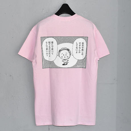 "LABRAT / LABRAT×COJI-COJI""not bad"" Tee (Pink)"