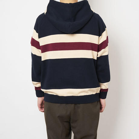 SON OF THE CHEESE / Border hoodie (NAVY)