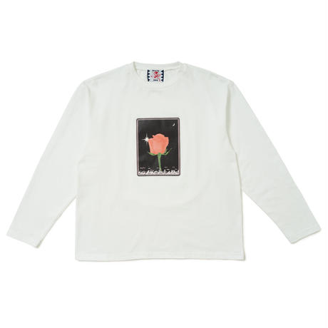 SON OF THE CHEESE / Flower LS TEE (WHITE)