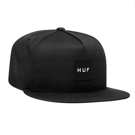 HUF / ESSENTAILS BOX SNAPBACK HAT (BLACK)