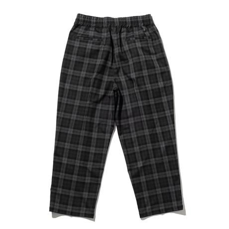 RUTSUBO /  TARTAN EASY PANTS (BLACK/GREY)
