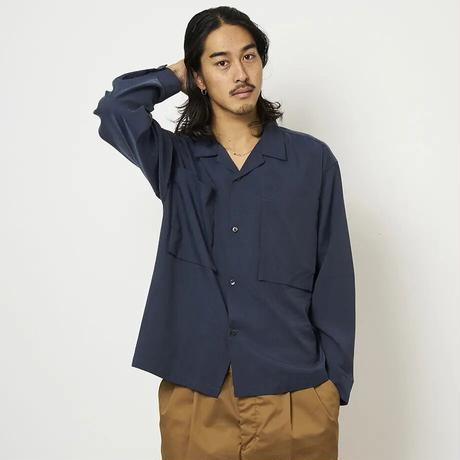 SON OF THE CHEESE / BOX POCKET L/S  (NAVY)