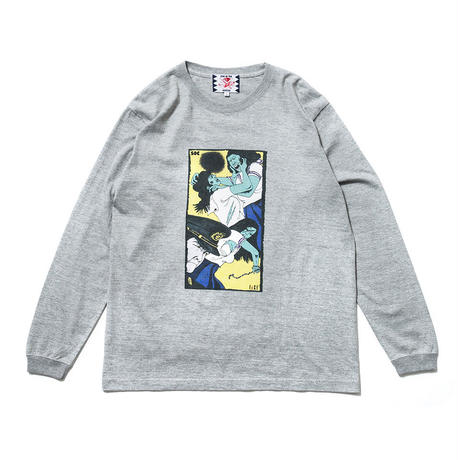 SON OF THE CHEESE / Face long shirt (GRAY)
