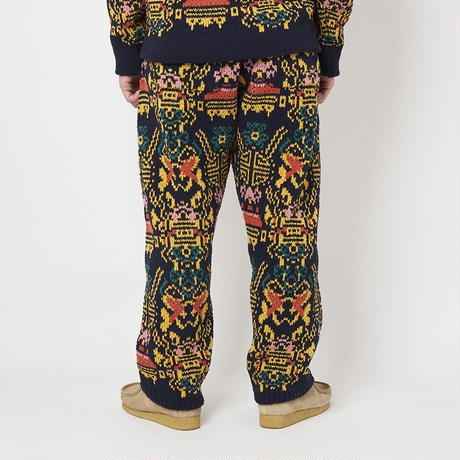 SON OF THE CHEESE / Wallpaper Pants (NAVY)