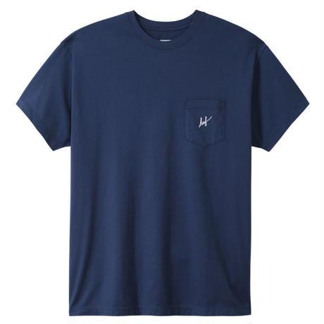 HUF / SCRIPT POCKET TEE BLUE