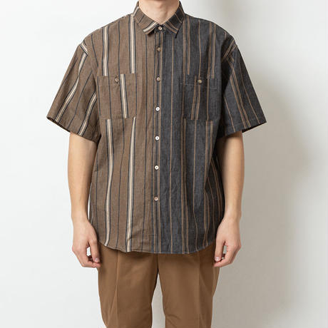 SON OF THE CHEESE / Switching Shirt(BEIGE)