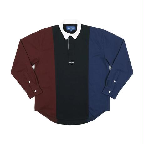 Only NY /TRI-COLOR POPOVER SHIRT(Navy/Multi)