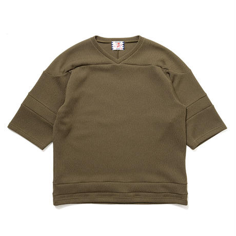 SON OF THE CHEESE / knitball Tee(OLIVE)