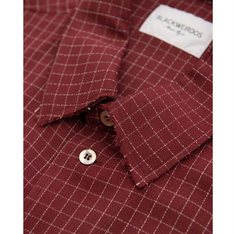 Black Weirdos / Big Pocket Shirt (Burgundy)