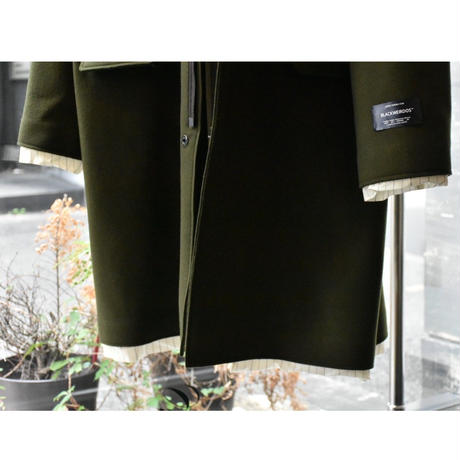 Black Weirdos / Taping Layered Coat (OLIVE)